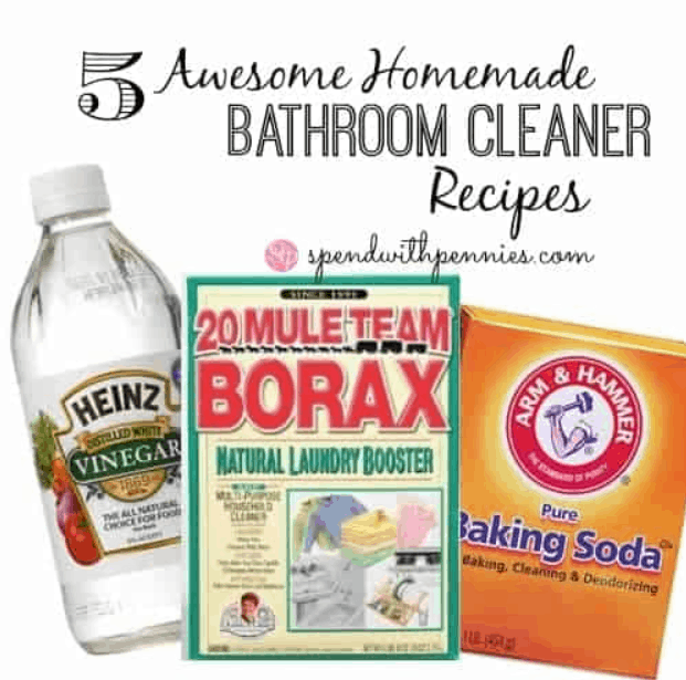 5 Awesome Homemade Bathroom Cleaner Recipes!