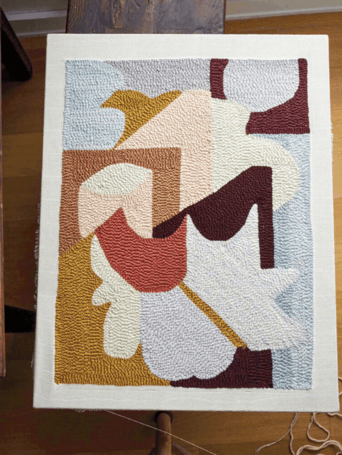 DIY Bathmat from Modern Rug Hooking featured in Domino
