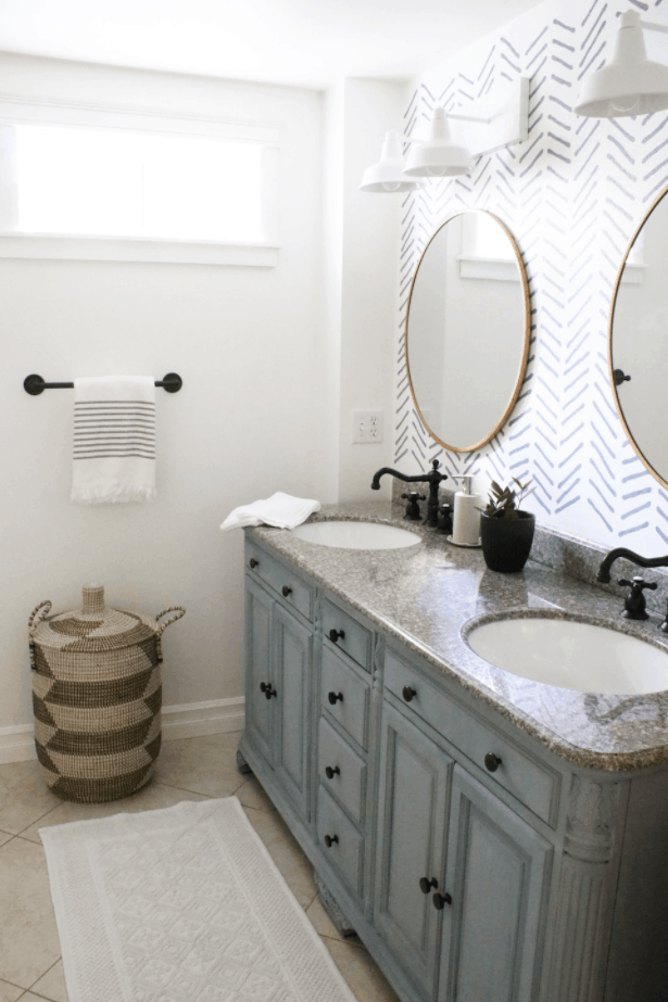 DIY Bathroom Makeover in a Month Before & After