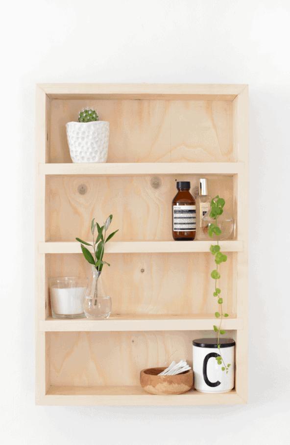 DIY Bathroom Storage Shelf