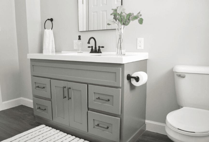 DIY Bathroom Vanity Makeover