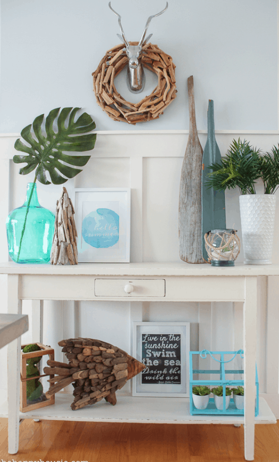 DIY Beachy Decor Driftwood Tree