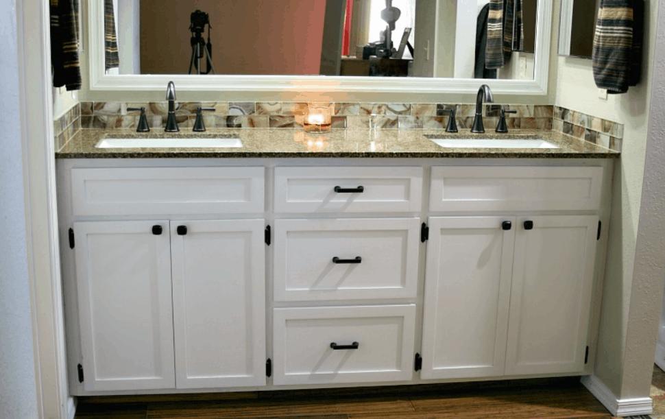 DIY Double Bathroom Vanity