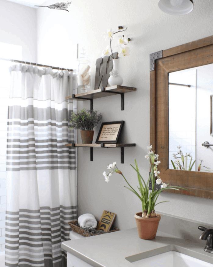 DIY Industrial Shelves for the Bathroom