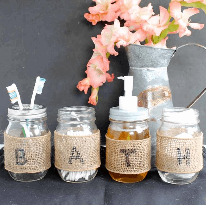 DIY Mason Jar Bathroom Set – Make Your Own