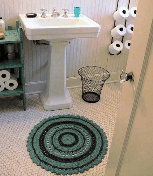 DIY Project Julie's Crochet Bath Rug