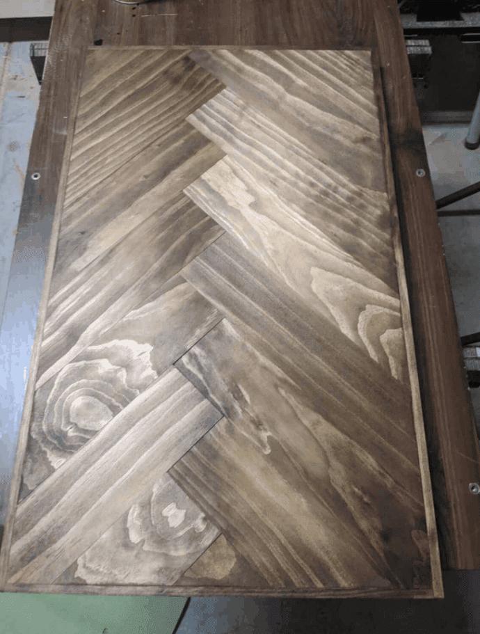 DIY Wood Countertops with Herringbone Pattern