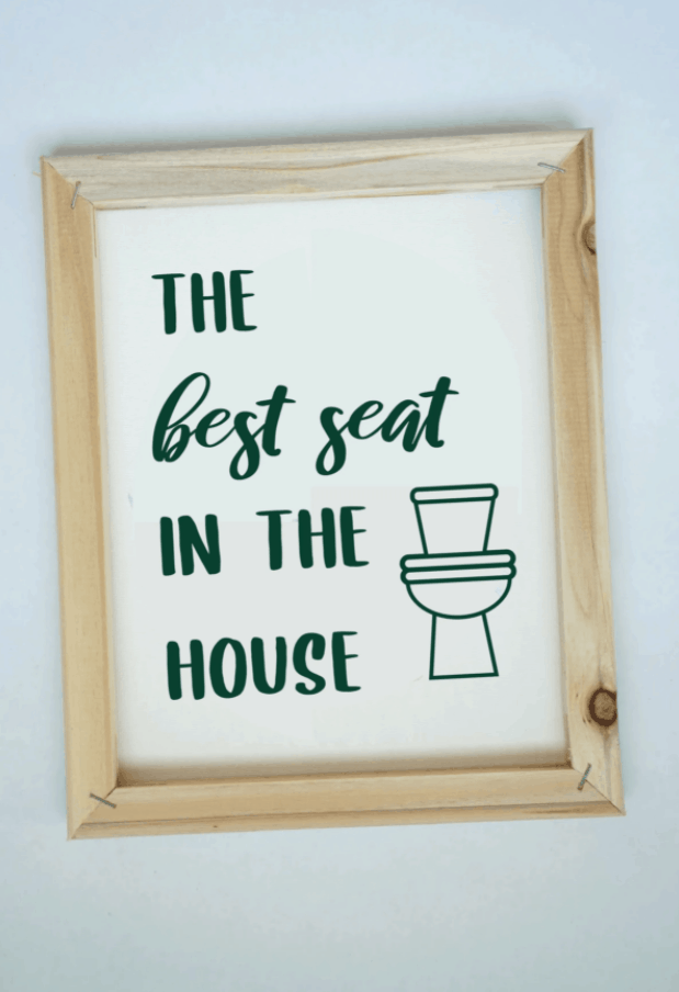 Easy Reverse Canvas Signs with Funny Bathroom Sayings