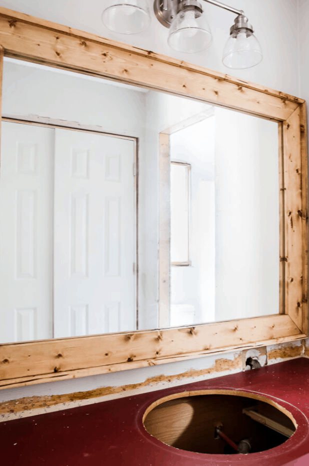 Frame A Bathroom Mirror in Under Two Hours