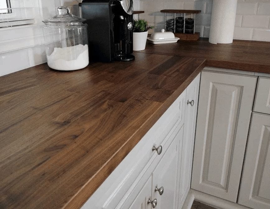 Gorgeous Wood Countertops Anybody Can DIY