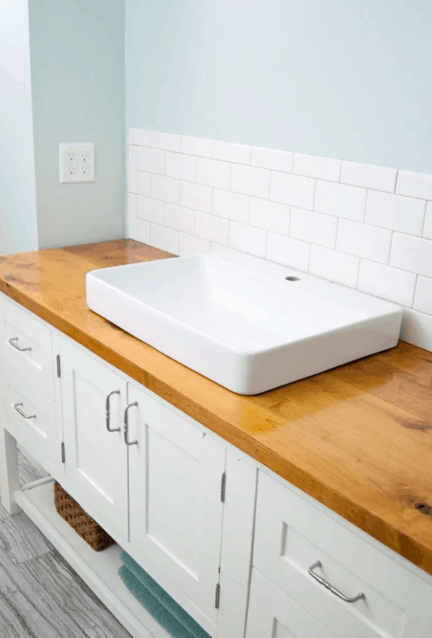 How to Build & Protect a Wood Vanity Top