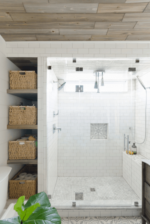 How to Build Shelves Next to Your Shower