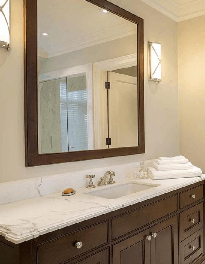 How to DIY Frame Bathroom Mirror