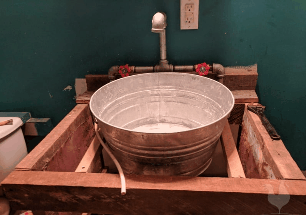 How to DIY a Bathroom Vanity Out of Reclaimed Wood