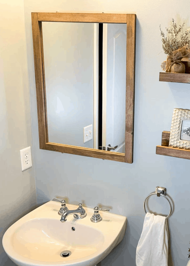 How to Make a DIY Frame for a Bathroom Mirror