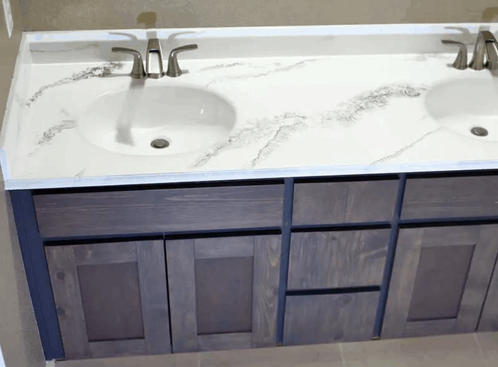 How to Refinish the Bathroom Vanity Top with Epoxy Resin