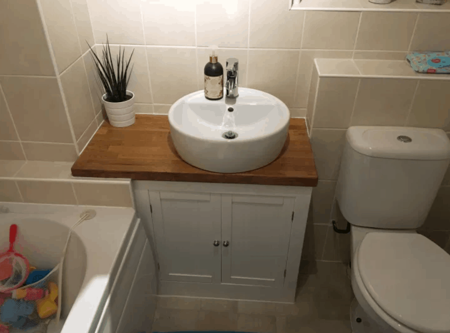 How to create a bathroom vanity sink for $200