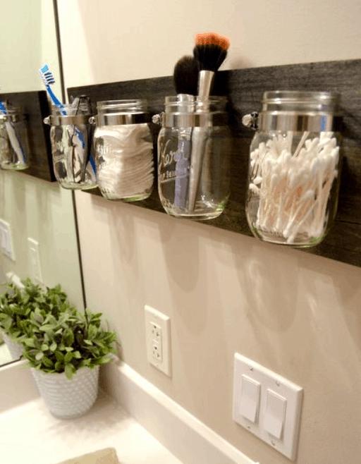 Mason Jar Bathroom Decor DIY