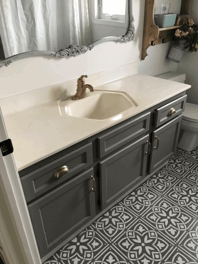 Paint Your Bathroom Countertop