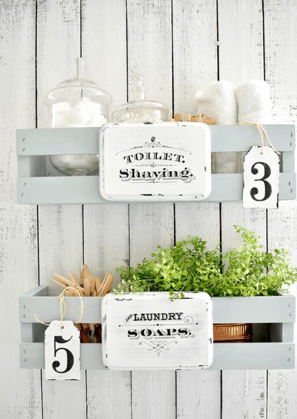 Personalized Storage Shelves