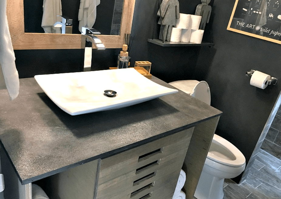 Vanity Made from Concrete – DIY for Less!