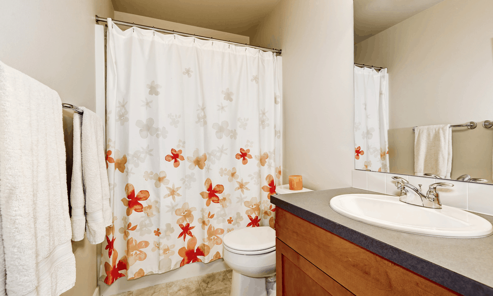 27 Homemade BathroomShower Curtain Plans You Can DIY Easily