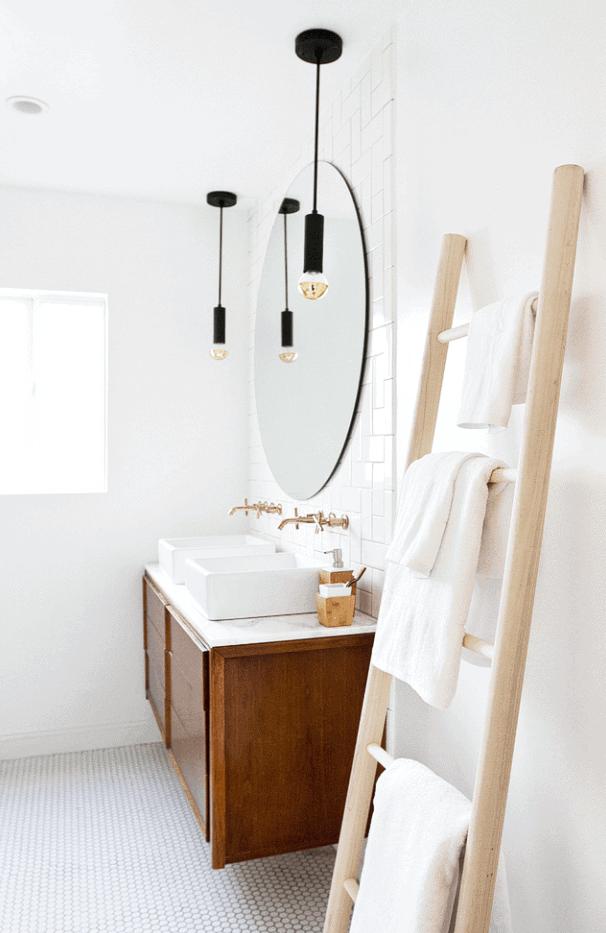Bathroom Refresh and DIY Towel Ladder