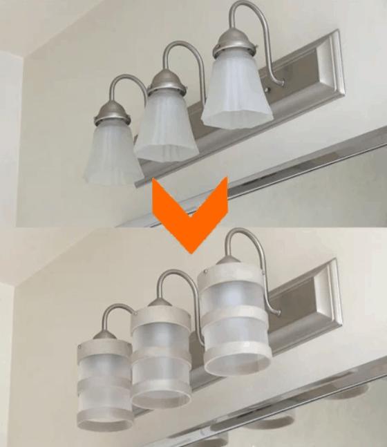 DIY Bathroom Lighting Fixture Makeover