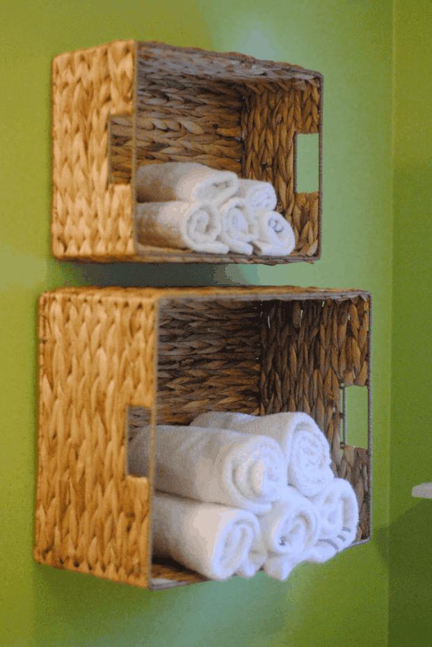 DIY Bathroom Towel Storage in Under 5 Minutes