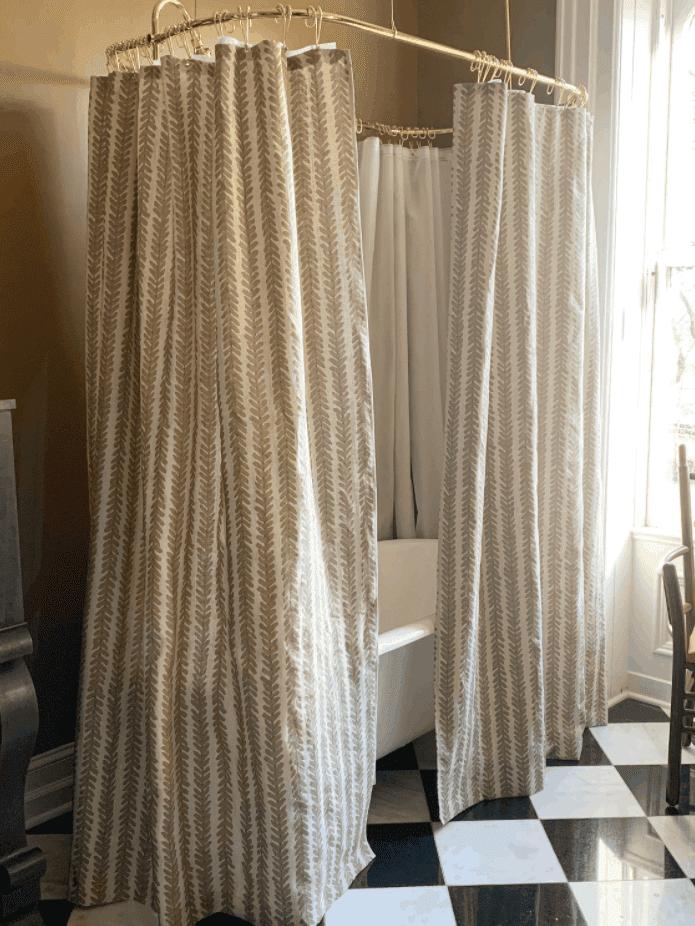 DIY Custom Full Length Shower Curtain