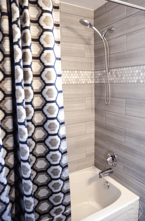 DIY Extra Long Custom Design Shower Curtain