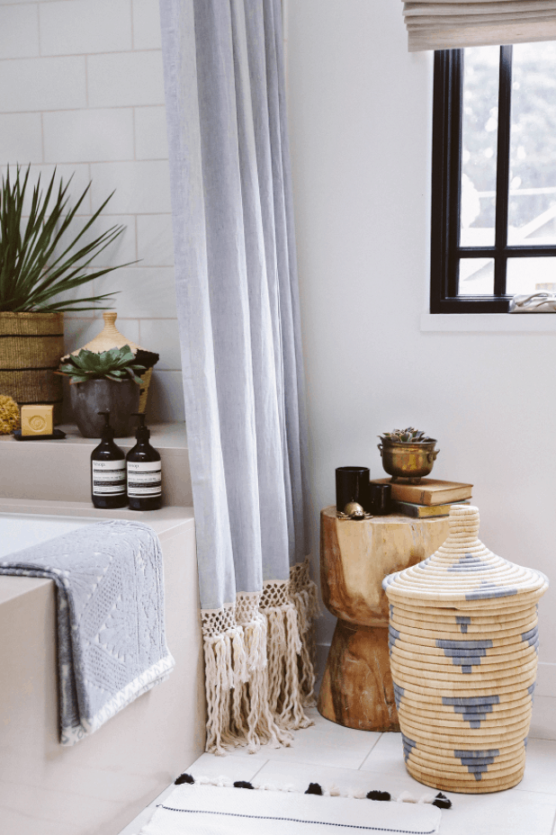 DIY Extra Long Shower Curtain