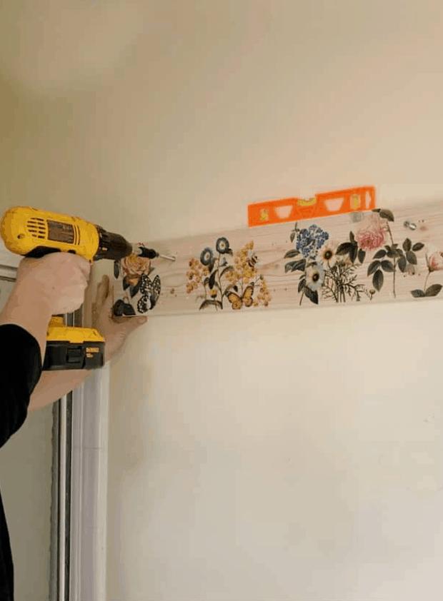DIY Farmhouse Towel Rack