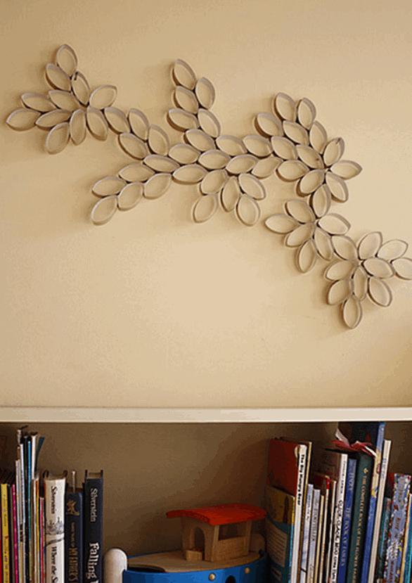 DIY Project Toilet Paper Roll Wall Art