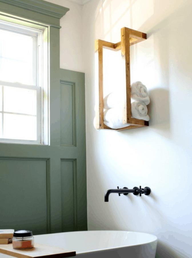 DIY Scrap Wood Towel Rack