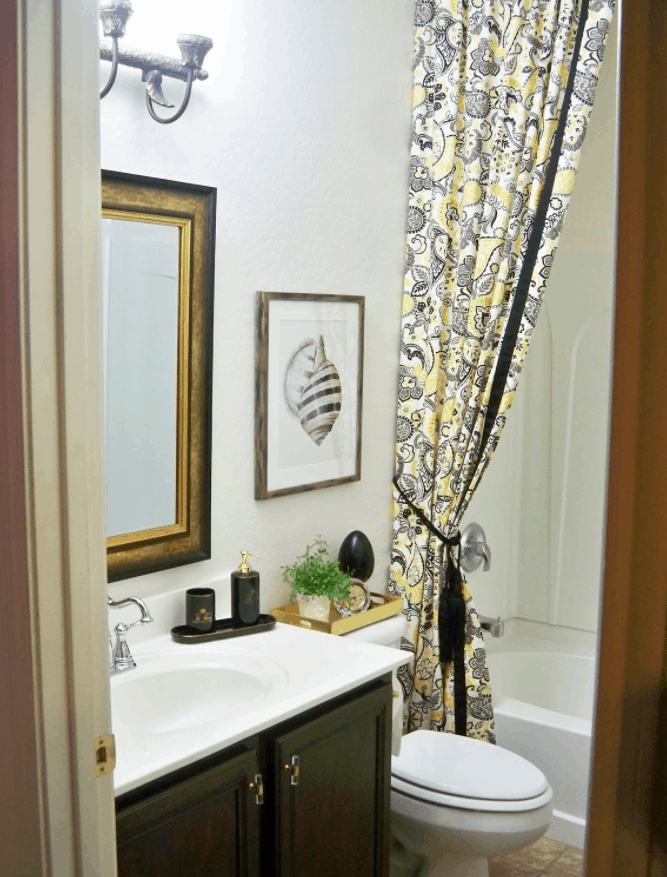 Double DIY Shower Curtain & Liner Tutorial