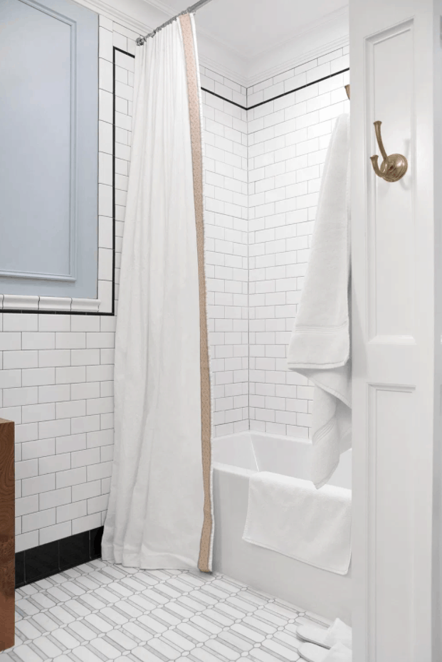 Extra Long Shower Curtain DIY