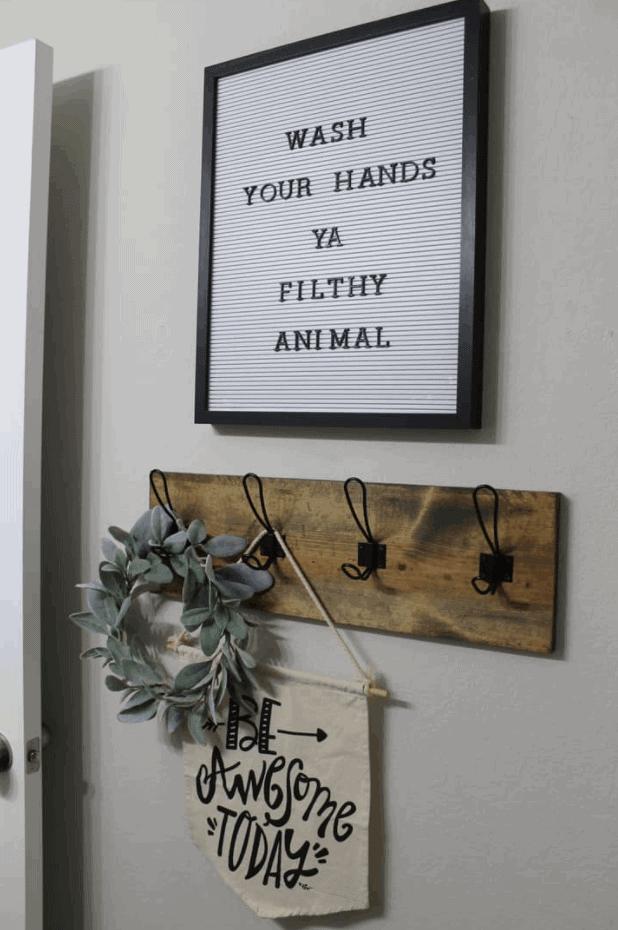 Farmhouse-Style DIY Towel Rack