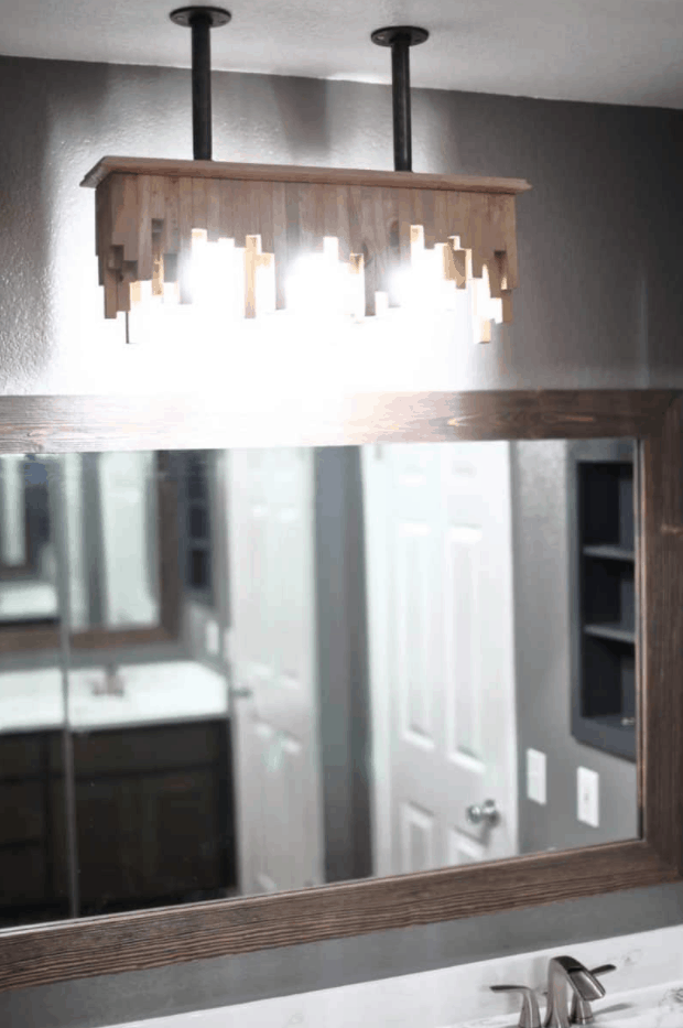 How to Build a DIY Bathroom Light Fixture from Ceiling