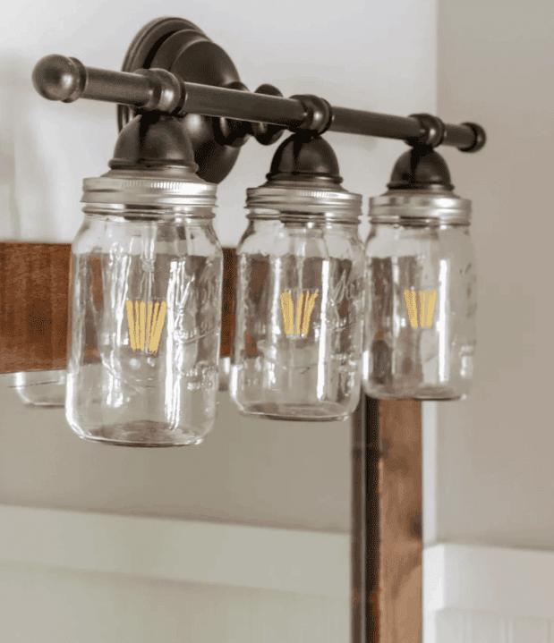 How to Make a DIY Mason Jar Bathroom Vanity Light