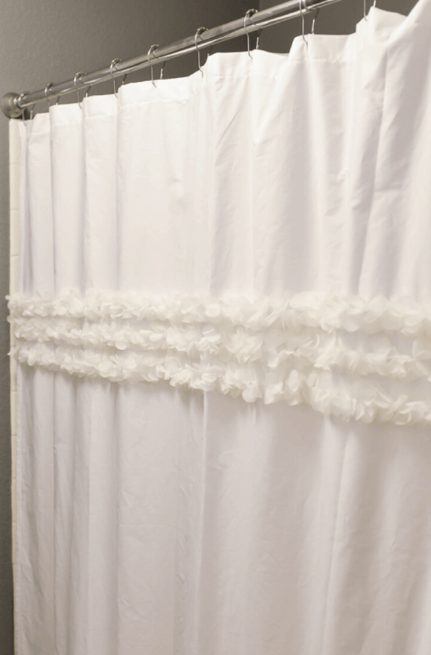 How to Make a Shower Curtain from a Flat Sheet