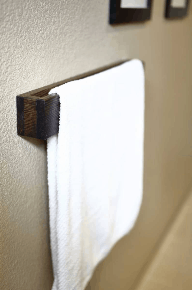 How to Make and Install a DIY Wooden Towel Bar