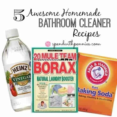 5 Awesome Homemade Bathroom Cleaner Recipes! – Spend With Pennies