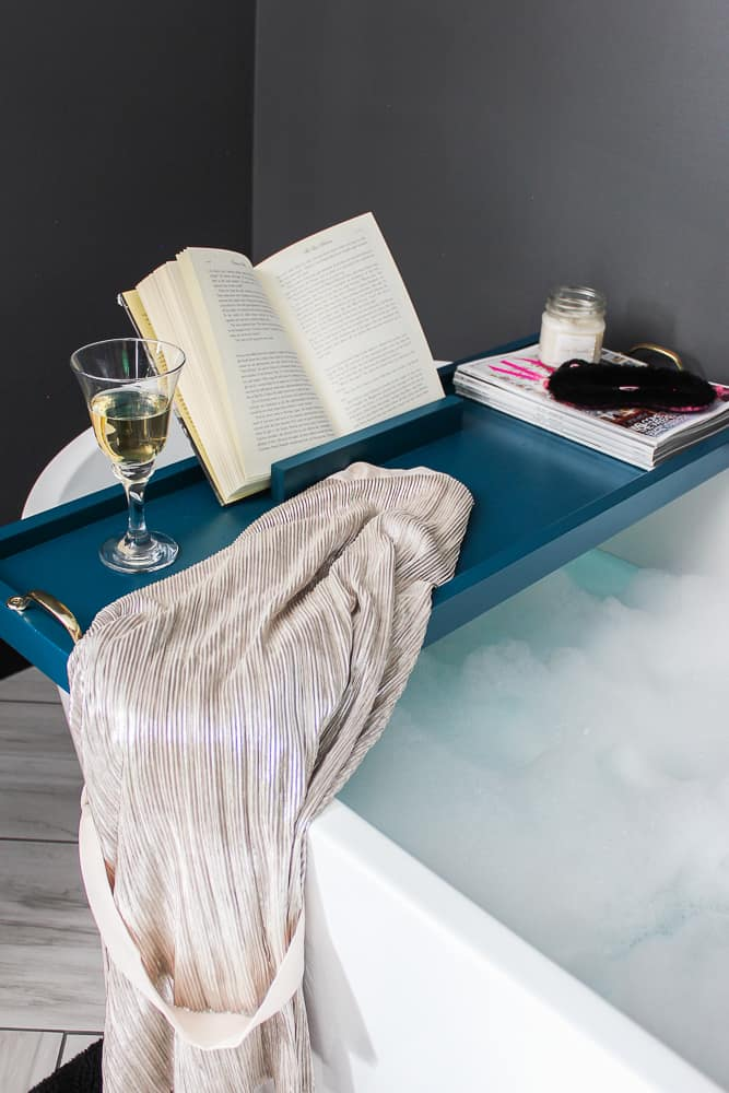 Blue DIY Bath Tray