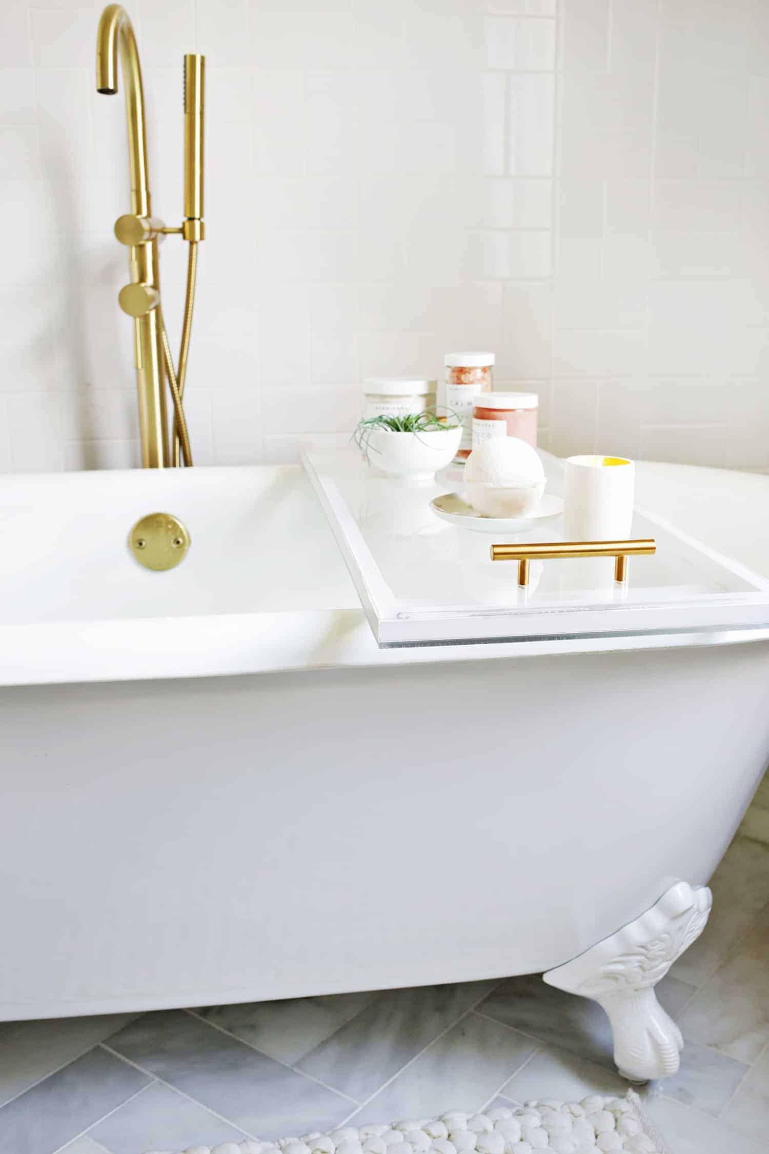 Clear Lucite DIY Bath Caddy