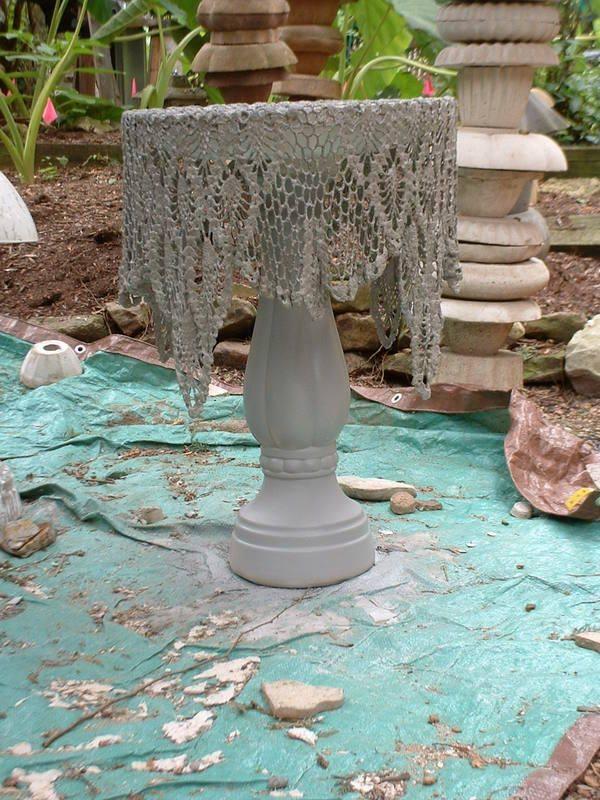 Concrete Doily Bird Bath