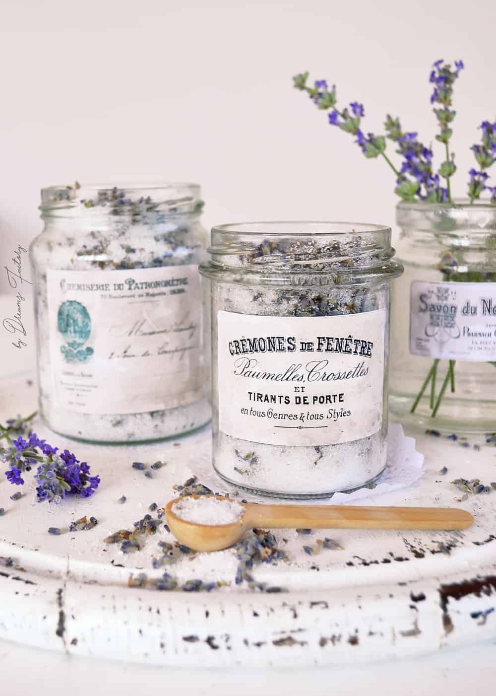 DIY Epsom Salt + Lavender Bath