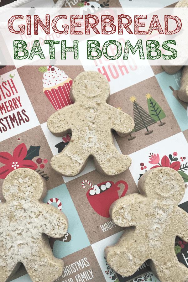 DIY Gingerbread Bath Bombs