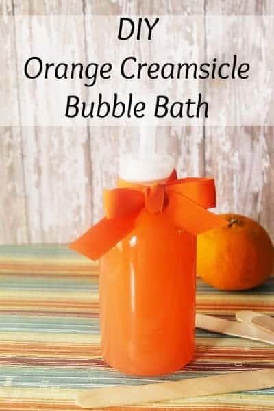 DIY Orange Creamsicle Bubble Bath