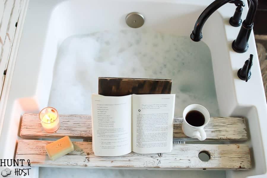 Distressed DIY Bath Board